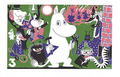 Moomin Poster Moomintroll 3 Tove Jansson 24 x 30 cm