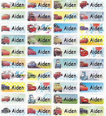 120 CARS Personalized Waterproof Name Stickers-SCHOOL,DAYCARE(Buy 5 get 1 FREE)
