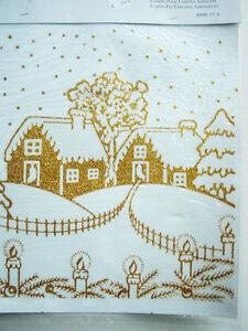 fensterbild selbsthaftend weihnachten goldfarben. Black Bedroom Furniture Sets. Home Design Ideas