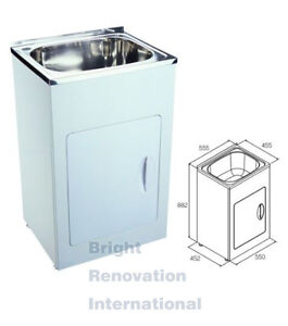 Stainless Wash Tub : Details about Brand New Drop In Stainless Steel Laundry Tub Cabinet 35 ...