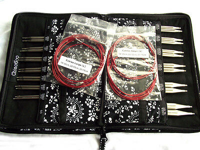 "ChiaoGoo TWIST 5"" Red Lace Complete (US 2 - US 15) IC Knitting Set MPN 7500-C"
