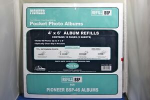 pioneer photo album refill pages bsp 4 x 6 for bsp 46 ebay