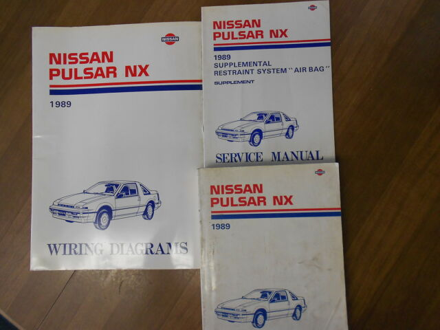 1989 Nissan Pulsar Nx Service Repair Shop Manual Set