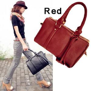 NEW-Fashion-Lady-Women-PU-Leather-Satchel-Shoulder-Handbag-Purse-Tote-Boston-Bag
