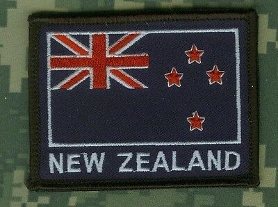 ALLIED COALITION FORCES SP OPS SNIPER OPERATOR burdock PATCH: FLAG New Zealand