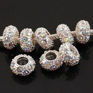 20x-New-Multicolor-Silver-Plated-Rhinestone-Beads-PPc88