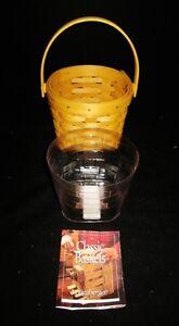 Longaberger-Basket-5-034-Measuring-Basket-11415-New-Protective-Liner-Brochure
