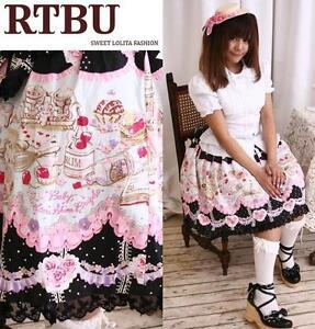 Sweet-Lolita-Doll-House-Desert-Pastry-Bakery-Chef-Skirt