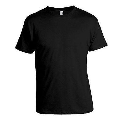 Plain (No Print) T-Shirt Made in Israel by Itshaki 100% Cotton Black
