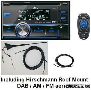 JVC-KW-DB60AT-Double-Din-Car-Stereo-DAB-USB-iPod-inc-Hirschmann-DAB-aerial