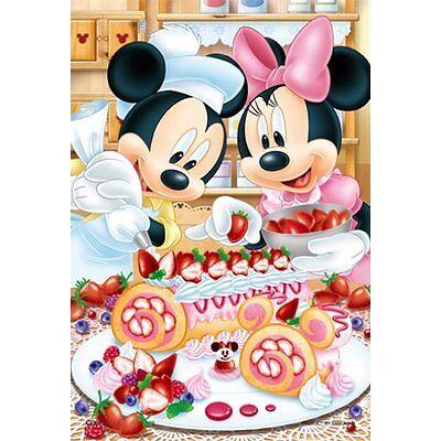 """Yanoman Jigsaw Puzzle 98-579 Disney Mickey&Minnie """"Roll Cake"""" (204 Small Pieces)"""