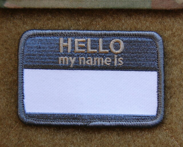 HELLO MY NAMES IS... ACU UCP Morale Patch Hook Backing