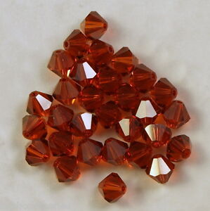 10 perles toupies en cristal de Swarovski 5301 Indian red 6 mm 7Qx4uccm-09095959-795120219