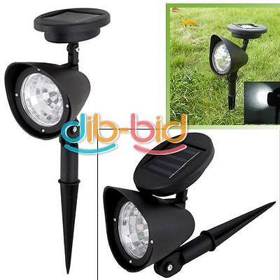 3 LED Outdoor Solar Powered Spotlight Landscape Spot Light LED Garden Lamp SS