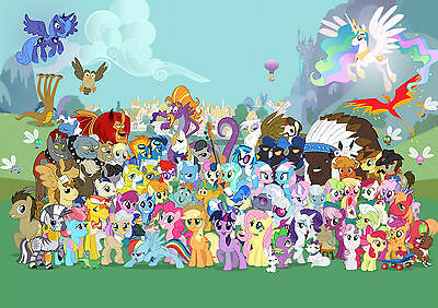 MY LITTLE PONY Photo Poster Print Art A2 A3 A4