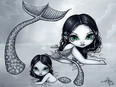 Jasmine Becket-Griffith art print SIGNED Mermaid Mother and Child baby ocean pop