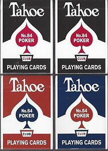 4-DECKS-Arrco-Tahoe-playing-cards-Red-blue-black-inverse