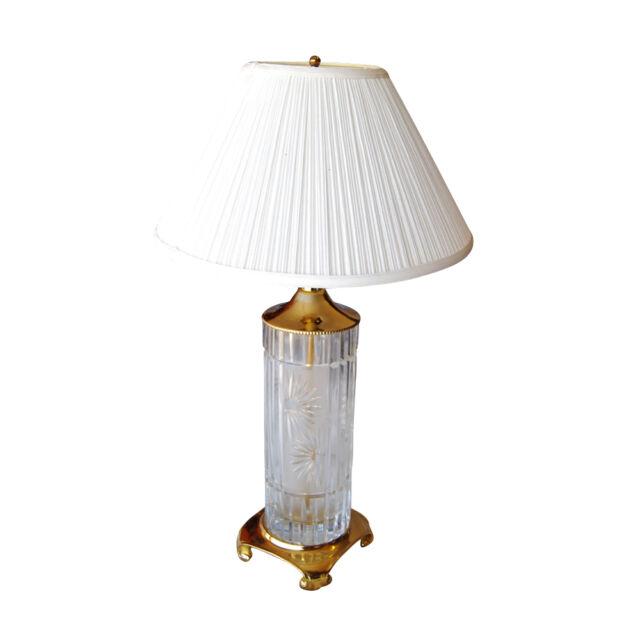 Vintage Signed Dresden Crystal Lamp