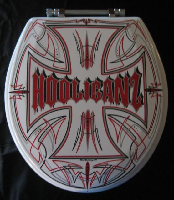 PERSONALIZED Toilet Seat pinstriping hot rod rat custom GRAPHICS Shop Club Name