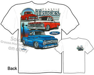 Ford T Shirt F 100 Truck Tee Shirts Automotive Shirts Pickup 1955