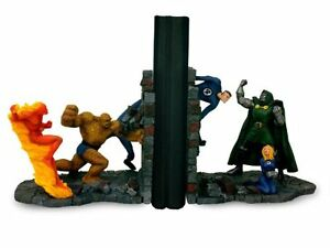 Image is loading Fantastic-Four-verses-Dr-Doom-Bookends-Marvel-Comics-