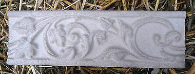 2 unbreakable plastic roman scroll trim molds plaster resin cement  2 moulds