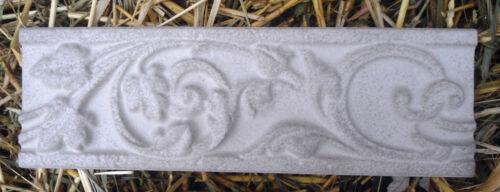 2 unbreakable plastic roman scroll trim molds plaster resin cement  2 moulds
