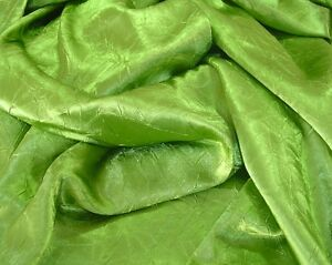 Crushed-Satin-CHARMEUSE-shimmering-amp-glimmering-jewelled-PERIDOT-quilt-craft-doll