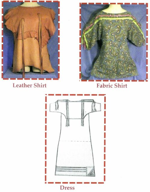 Native American Indian Eagle Wing Shirt or Dress (Old Style) Sewing Pattern