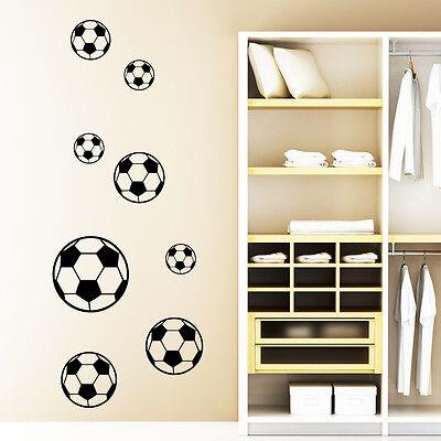 """Wandtattoo """"8 Fussbälle"""" ab 19,90€ Fußball Fusball"""