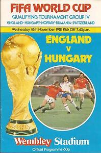 England v Hungary  World Cup  18111981  Football Programme - Totnes, Devon, United Kingdom - England v Hungary  World Cup  18111981  Football Programme - Totnes, Devon, United Kingdom
