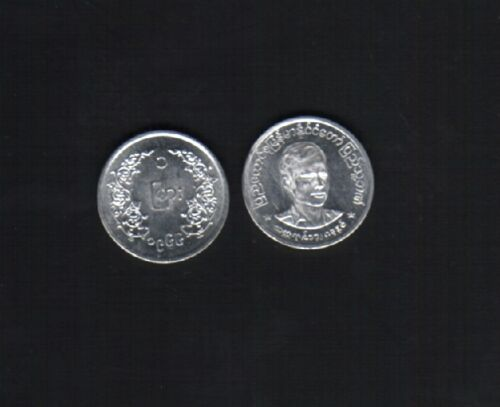 BURMA 1 PYA KM38 1966 GENERAL AUNG SAN UNC ASEAN MYANMAR MONEY COIN