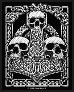 AMON-AMARTH-Patch-Aufnaeher-Three-skulls-7x10cm