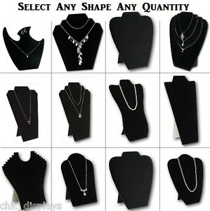 LOTS-1-6-12-Pcs-NECKLACE-EASELS-JEWELRY-EASELS-NECKLACE-EARRING-DISPLAY-STAND