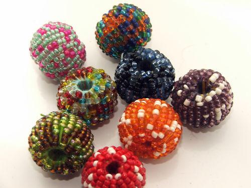 5 x 20mm beaded beads