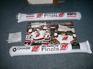 NEW-JERSEY-DEVILS-2003-CHAMPIONSHIP-POSTERS-AND-CHEER-STIX-RARE-FREE-SHIPPING
