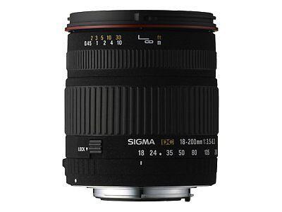 Sigma DC 18 - 200 mm f/1:3.5-6.3 für Canon
