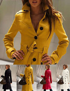New-Women-039-s-Coat-amp-Jacket-Cashmere-Long-Special-Style-Coat-White-Red-Black-Yellow