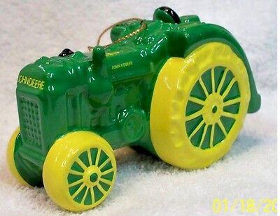 John Deere Tractor Ceramic Christmas Ornament