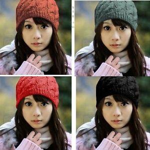 New-7-Colors-Women-Warm-Winter-Beret-Braided-Baggy-Beanie-Crochet-Hat-Ski-Cap