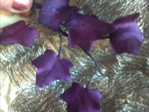 VINTAGE MILLINERY Leaf stem SILK Maple LEAVES 1940/'s Made in Japan Hand Wrapped