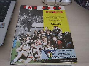 Dunfermline v Celtic 1989 programme - <span itemprop=availableAtOrFrom>aberdeen, Aberdeen City, United Kingdom</span> - Dunfermline v Celtic 1989 programme - aberdeen, Aberdeen City, United Kingdom