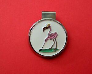 Designer-Mag-Hat-Golf-ball-Marker-WMy-Flamingo-Golfin