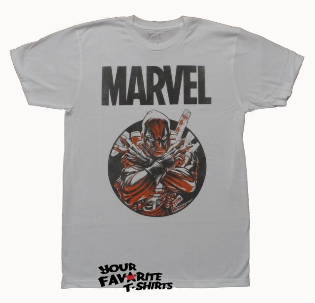 Deadpool Circle Marvel Premium Fitted Licensed Adult Shirt S-2XL