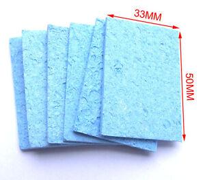 10-PCS-Soldering-solder-Tip-Welding-Absorbent-CLEANING-SPONGE-Clean-water