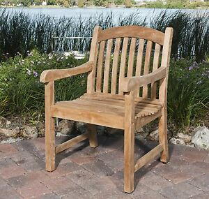BEAUTIFUL-TEAK-ARM-CHAIR-GRADE-A-100-TEAK-TOP-QUALITY-HEAVY-NEW-IN-BOX