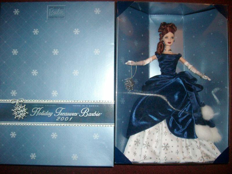 Club de coleccionistas de Barbie 2001 tesoros de vacaciones Cabeza Rojo