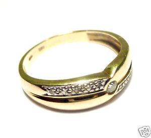 Goldring schmal  Diamantring schmal Goldring 585er Gold Ring Diamant Brillant 0,09 ...