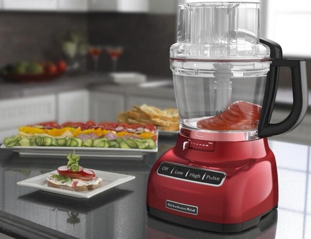 KitchenAid 13-Cup 3.1L Wide Mouth Food Processor Red KFP1333Er Big Large New