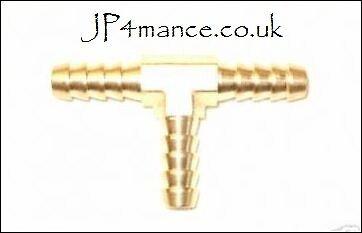 METAL T PIECE FUEL LINE HOSE JOINER UNION 8mm (MTP002)